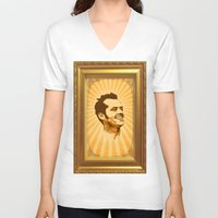 jack nicholson V-neck T-shirts featuring Nicholson by Durro