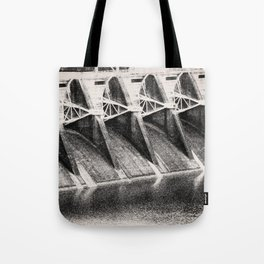 Industrial Dam Structure Tote Bag