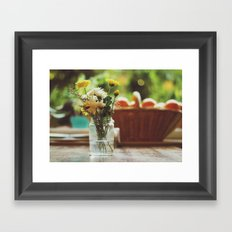 Flowers and oranges Framed Art Print