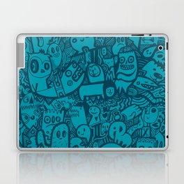 Blue Doodle Laptop & iPad Skin
