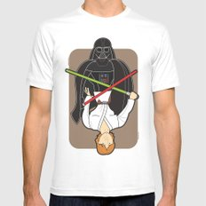 Darth Vader and Luke Mens Fitted Tee SMALL White