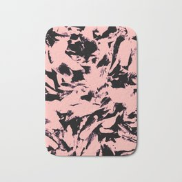 Old Rose Black Abstract Military Camouflage Bath Mat