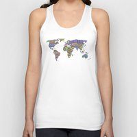 decal Tank Tops featuring Overdose World by Bianca Green