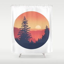 Pine Mountains Shower Curtain