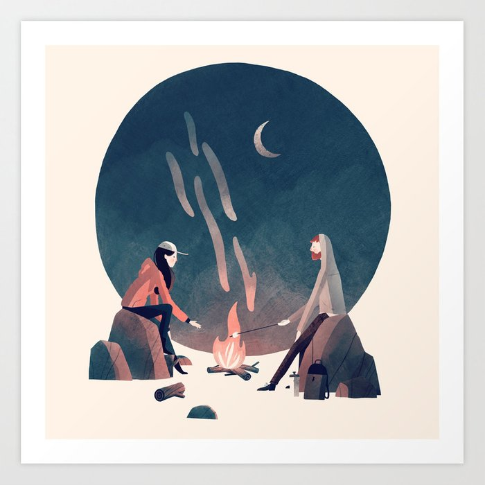 Happy Camping Art Print