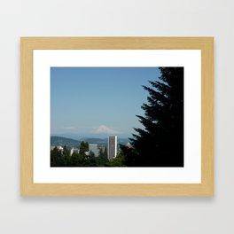 Mt. Hood Skyline Framed Art Print