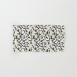 Black and White Feather Repeating Pattern Hand & Bath Towel