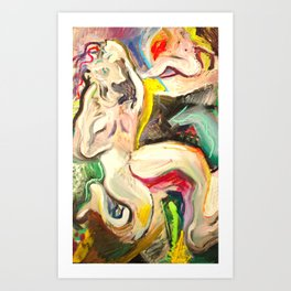 """Reverse frustrate on TV illuminate"" Art Print"