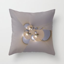 Birth of floral shapes Throw Pillow