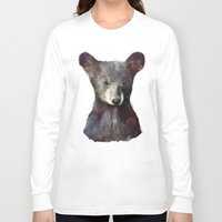 navy Long Sleeve T-shirts featuring Little Bear by Amy Hamilton