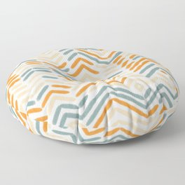 Zigzag vintage hand drawn illustration pattern. Geometrical colorful Abstract striped repeat background in pastel colors. Floor Pillow