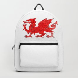 Welsh Dragon With Grunge Backpack