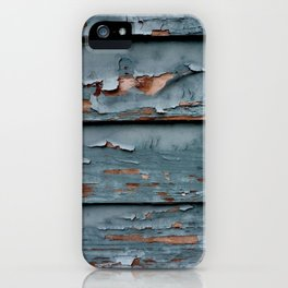 Blue and White Paint iPhone Case