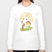 hobbes Long Sleeve T-shirts featuring Shaggy n Scoob by Moysche Designs