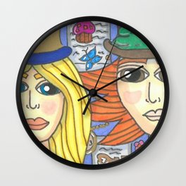 Alice and Hatter 2 Wall Clock