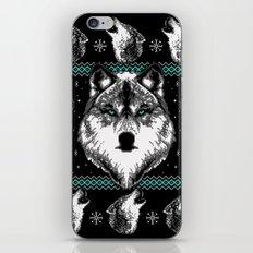 Merry Wolfmas iPhone & iPod Skin