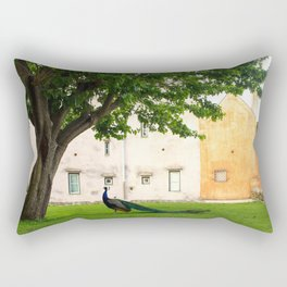 Portuguese Peacock Rectangular Pillow