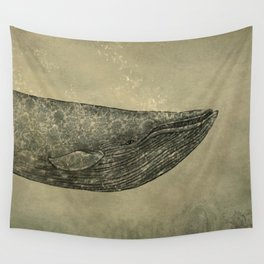 Damask Whale  Wall Tapestry