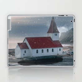 Floating Building in Vik Iceland Laptop & iPad Skin