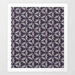 Purple Triquetra Art Print