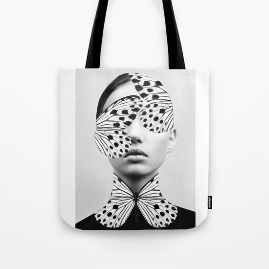 Woman Butterfly Tote Bag
