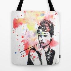 Audrey Hepburn Painting Tote Bag