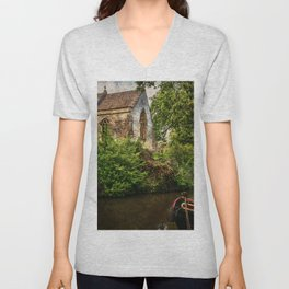 Church By The Oxford Canal Unisex V-Neck