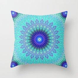 Frozen mandala Throw Pillow