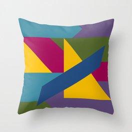 Color Block A Throw Pillow