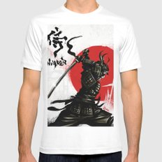 Samurai Invader White MEDIUM Mens Fitted Tee