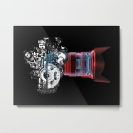 Motor Machine Metal Print