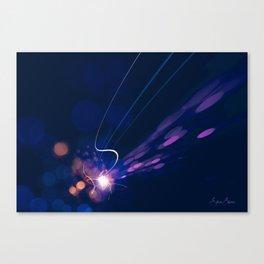 Dynamic movement of light Canvas Print