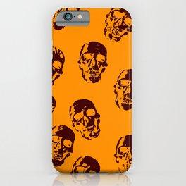 Hot skulls,orange iPhone Case