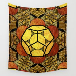 Sacred Geometry for your daily life -  Platonic Solids - ETHER COLOR Wall Tapestry