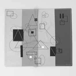 Gray Geometry 3 Throw Blanket