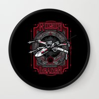 rogue Wall Clocks featuring Rogue Leader by Buzatron