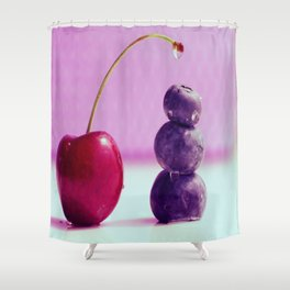 Food Design fresh Cherry and Bluebeeries Shower Curtain