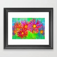 Bright Sketch Flowers Framed Art Print