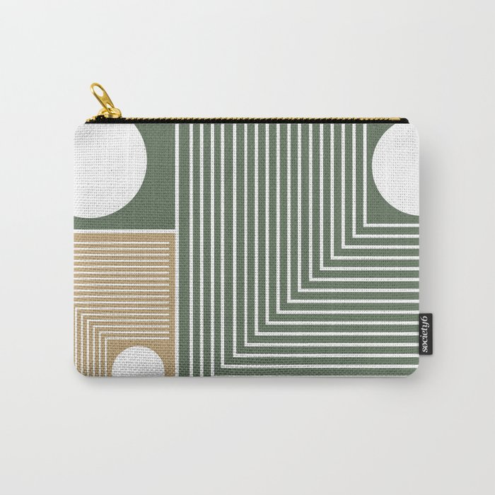 Stylish Geometric Abstract Carry-All Pouch