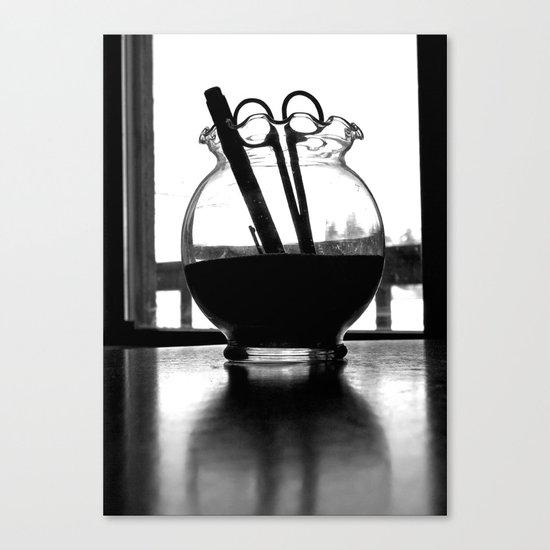Scissors and pen Canvas Print