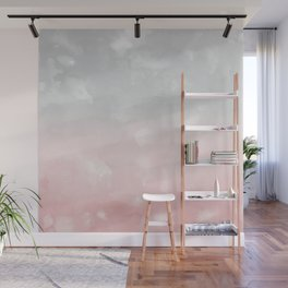 Touching Blush Gray Abstract Painting #1 #ink #decor #art #society6 Wall Mural