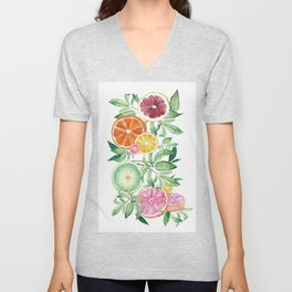 Citrus Fruit Unisex V-Neck