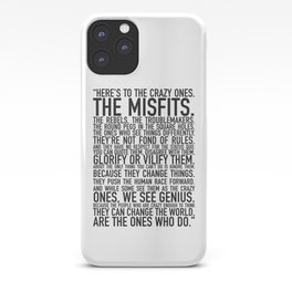 Here's to the crazy ones iPhone Case