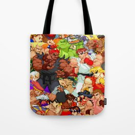 Street Fighter Alpha - Fight! Tote Bag