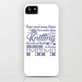 Knitting Mimi iPhone Case