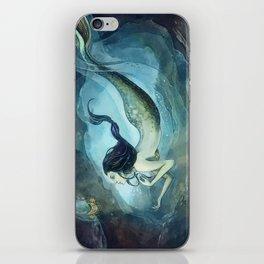 mermaid treasure iPhone Skin