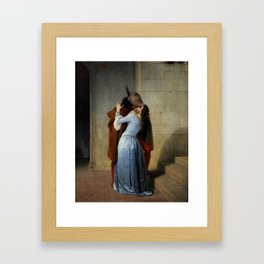Hayez the Kiss Framed Art Print