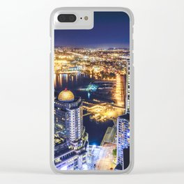 Voyeuristic 1719 Vancouver Cityscape Space Craft - Waterfront Convention Center Gastown BC Canada Clear iPhone Case