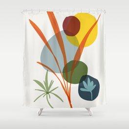 zen garden - modern Kado (ikebana) Shower Curtain