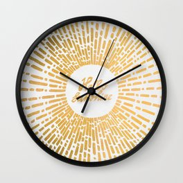Hello Sunshine Gold Wall Clock
